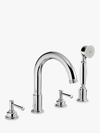 Abode Gallant Deck Mounted 4 Hole Bath/Shower Mixer Tap