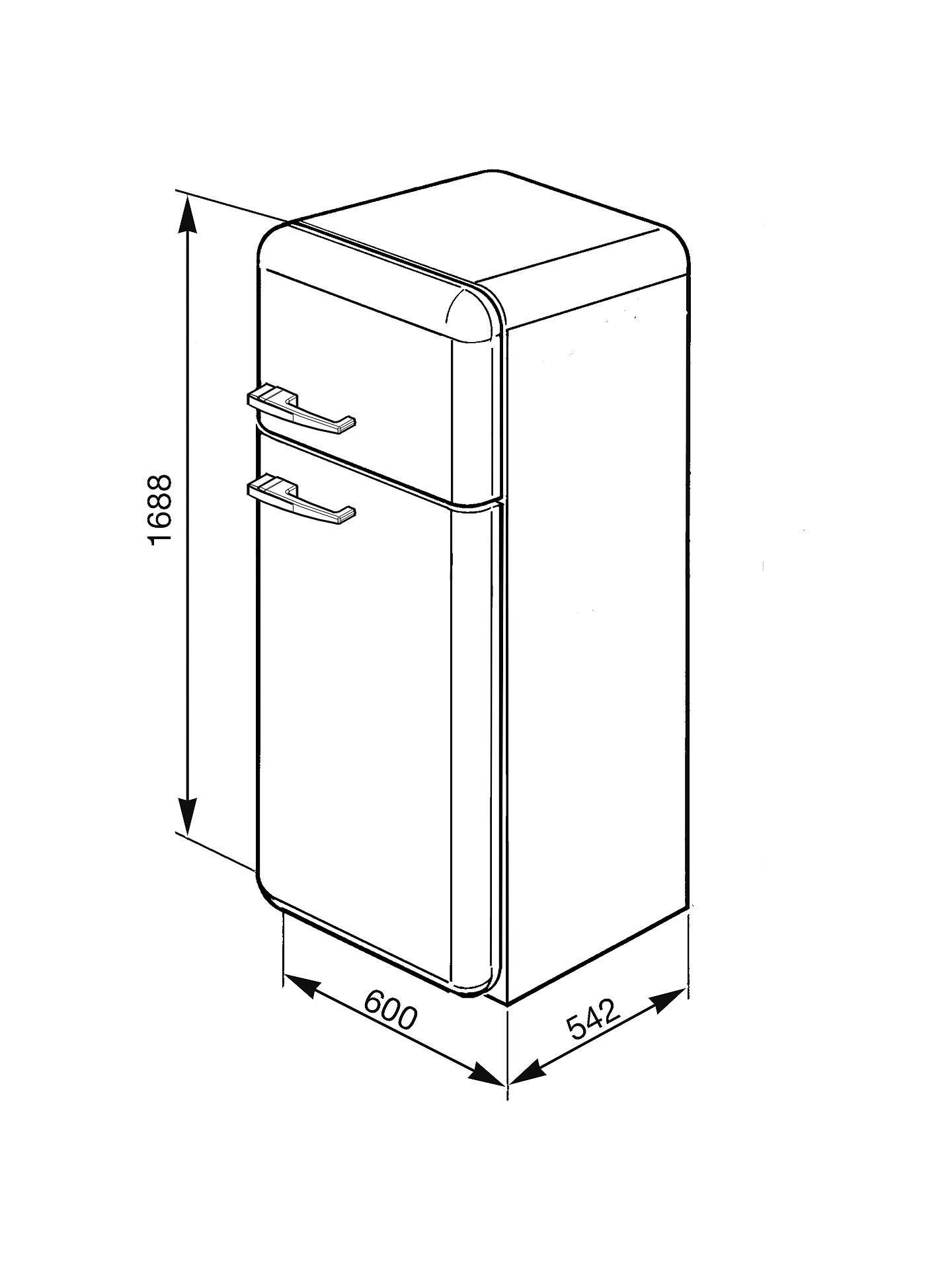 Smeg Fab30rf Fridge Freezer A Energy Rating 60cm Wide Right Hand Some Boy Scooter Wire Diagram Buysmeg Fab30rfa Hinge