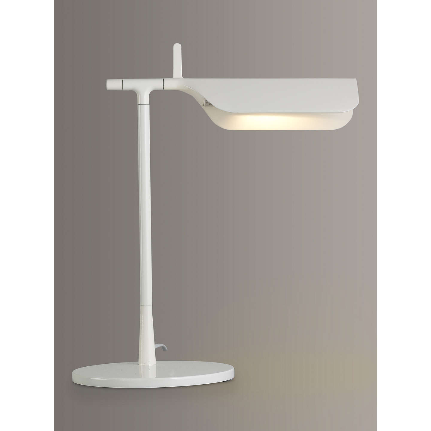 BuyFlos Tab LED Desk Lamp, White Online At Johnlewis.com ...
