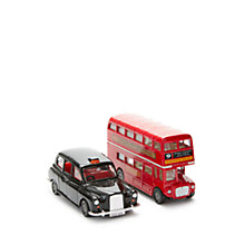 Buy John Lewis London Bus and Taxi Vehicle Set Online at johnlewis.com
