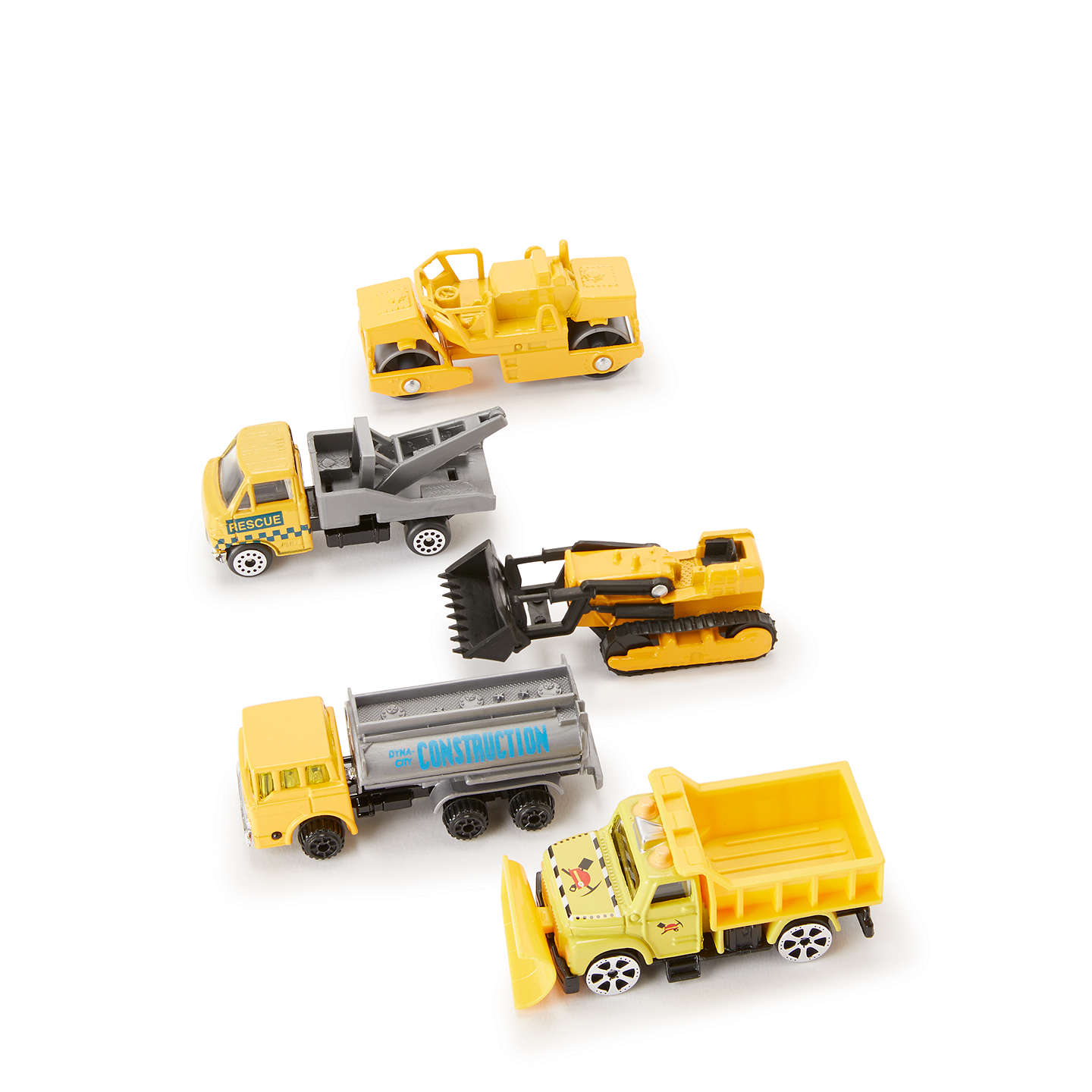 BuyJohn Lewis Pack of 5 Construction Vehicles Online at johnlewis.com