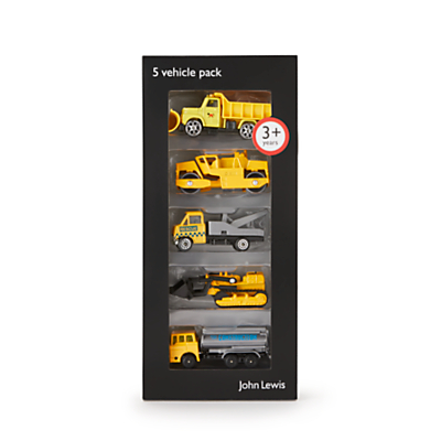 John Lewis & Partners Construction Vehicles, Pack of 5
