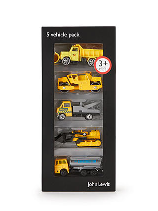 Buy John Lewis & Partners Pack of 5 Construction Vehicles Online at johnlewis.com