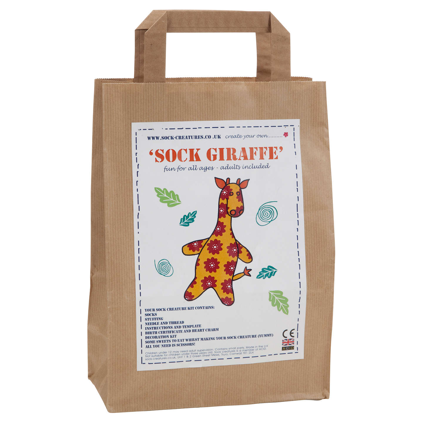 BuySock Creatuers Sock Giraffe Kit Online at johnlewis.com
