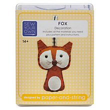 Buy Paper And String Sew Your Own Fox Decoration Kit Online at johnlewis.com