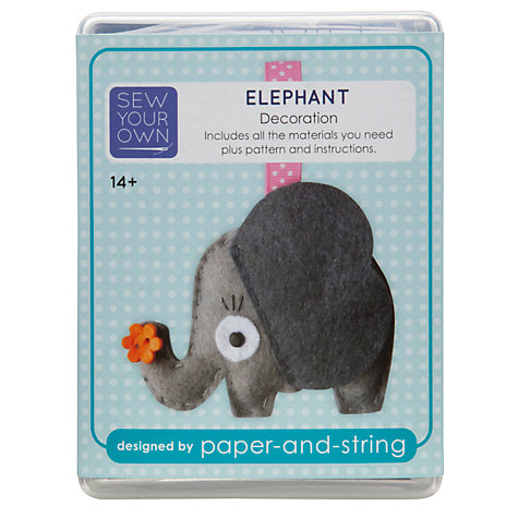Buy Paper And String Sew Your Own Decoration Kit, Elephant Online at johnlewis.com