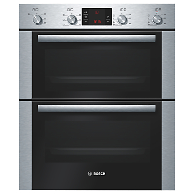 Image of BOSCH Avantixx HBN43B250B Electric Built-under Double Oven - Brushed Steel, Brushed Steel
