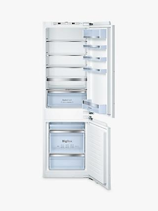 Bosch Classixx KIS86AF30G Integrated Fridge Freezer, A++ Energy Rating, 56cm Wide, White