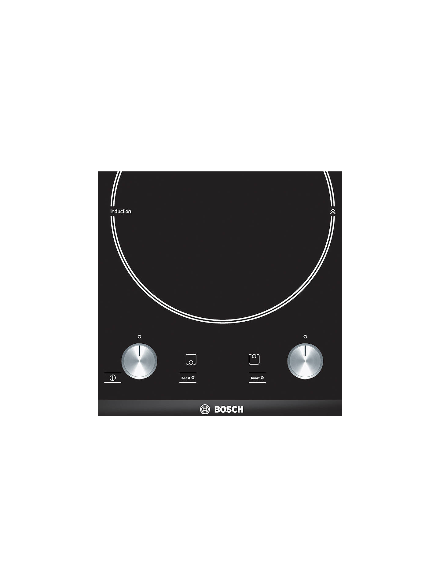 bosch pie375c14e domino induction hob black at john lewis partners. Black Bedroom Furniture Sets. Home Design Ideas