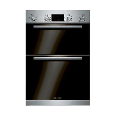 Image of Bosch Classixx HBM43B150B Built-in Double Electric Oven, Brushed Steel