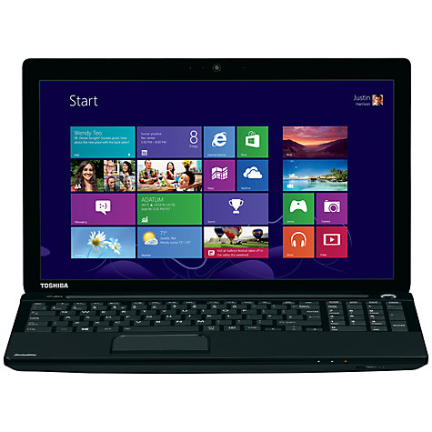 "Buy Toshiba Satellite C55-1CR Laptop, Intel Pentium, 8GB RAM, 1TB, 15.6"", Black Online at johnlewis.com"