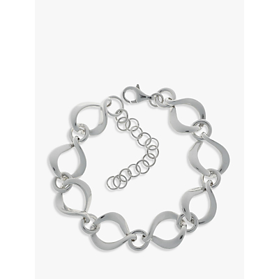 Nina B Sterling Silver Twisted Open Link Bracelet