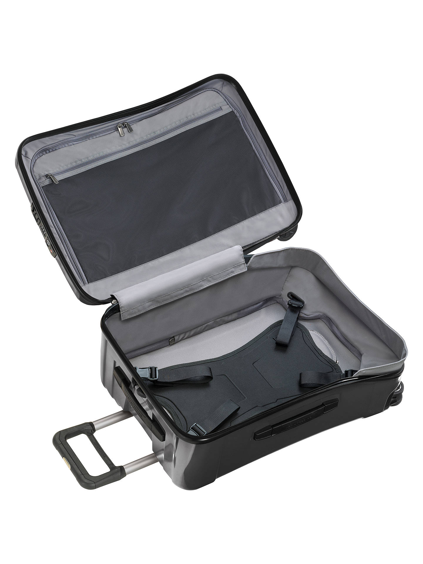 "BuyBriggs & Riley Torq 4-Wheel 15.6"" Laptop 54.4cm Cabin Suitcase, Graphite Online at johnlewis.com"