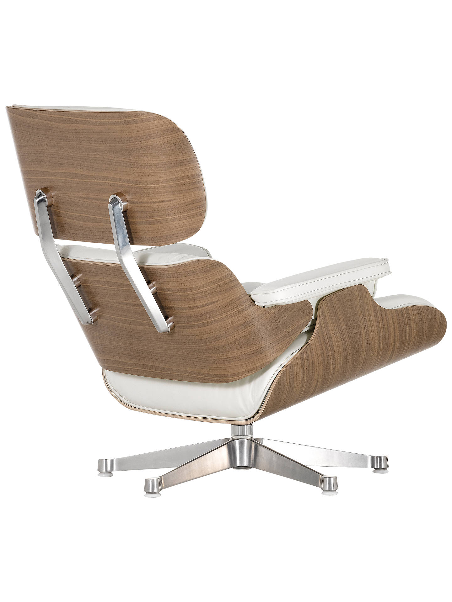 BuyVitra Eames Lounge Armchair, White/ Walnut Shell Online at johnlewis.com