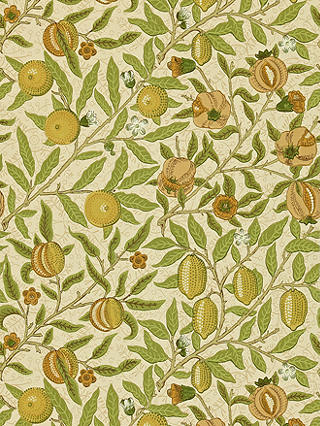 Buy Morris & Co. Fruit Wallpaper, Lime / Green / Tan, DMCW210427 Online at johnlewis.com