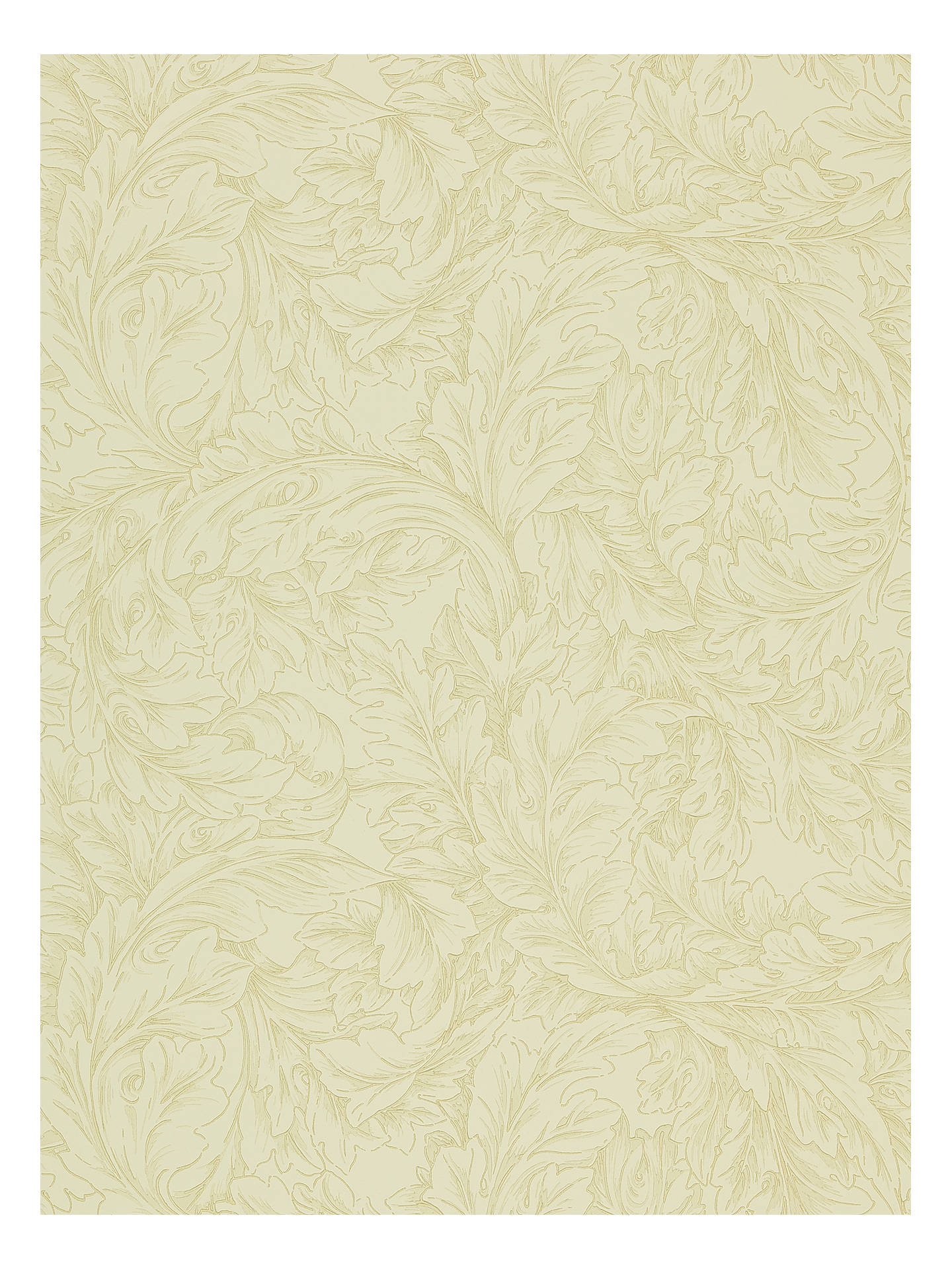 Buy Morris & Co. Acanthus Scroll Wallpaper, Parchment / Hemp, DMCW210404 Online at