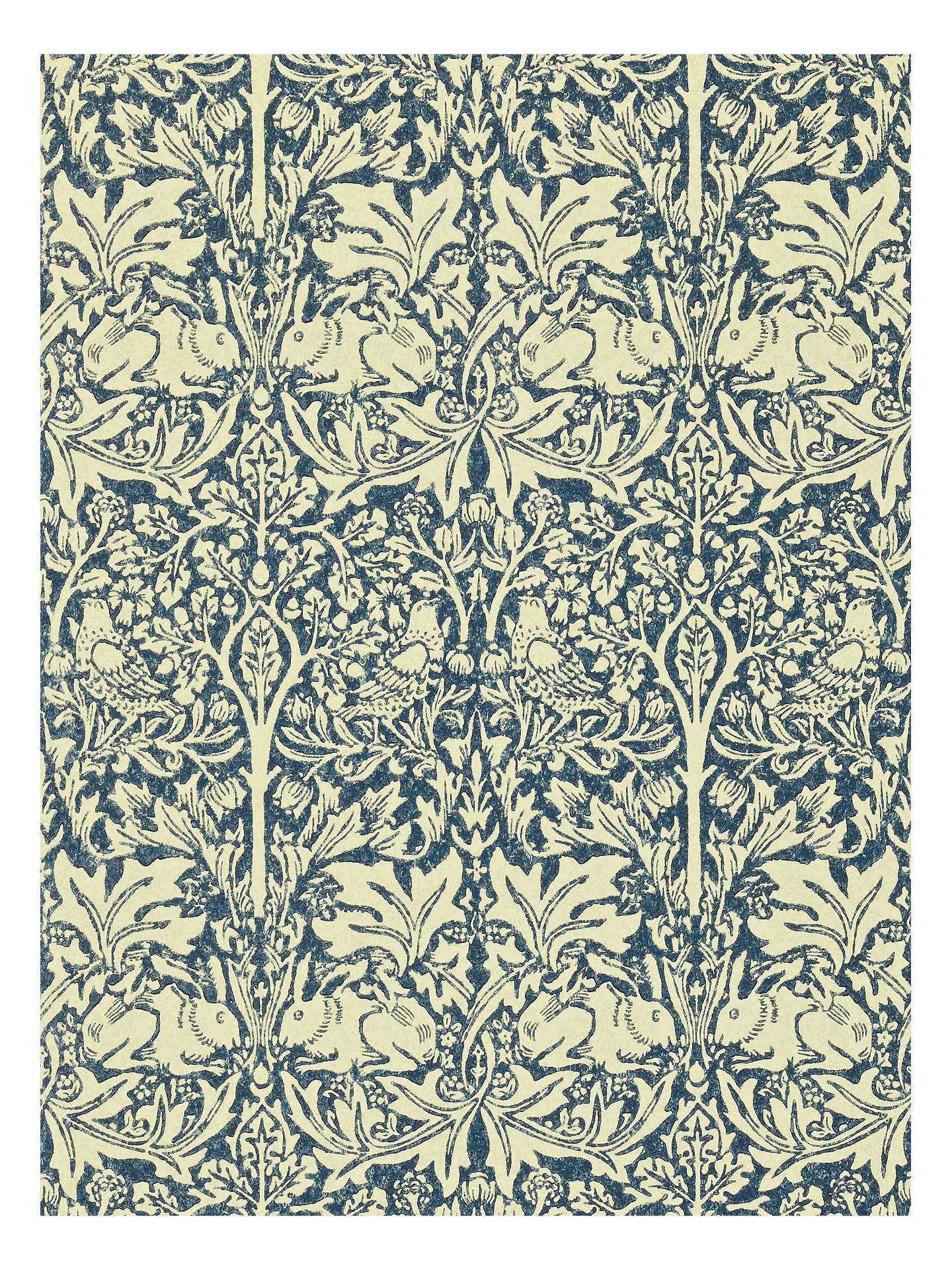 Morris Co Brer Rabbit Wallpaper Indigo Vellum Dmcw210411