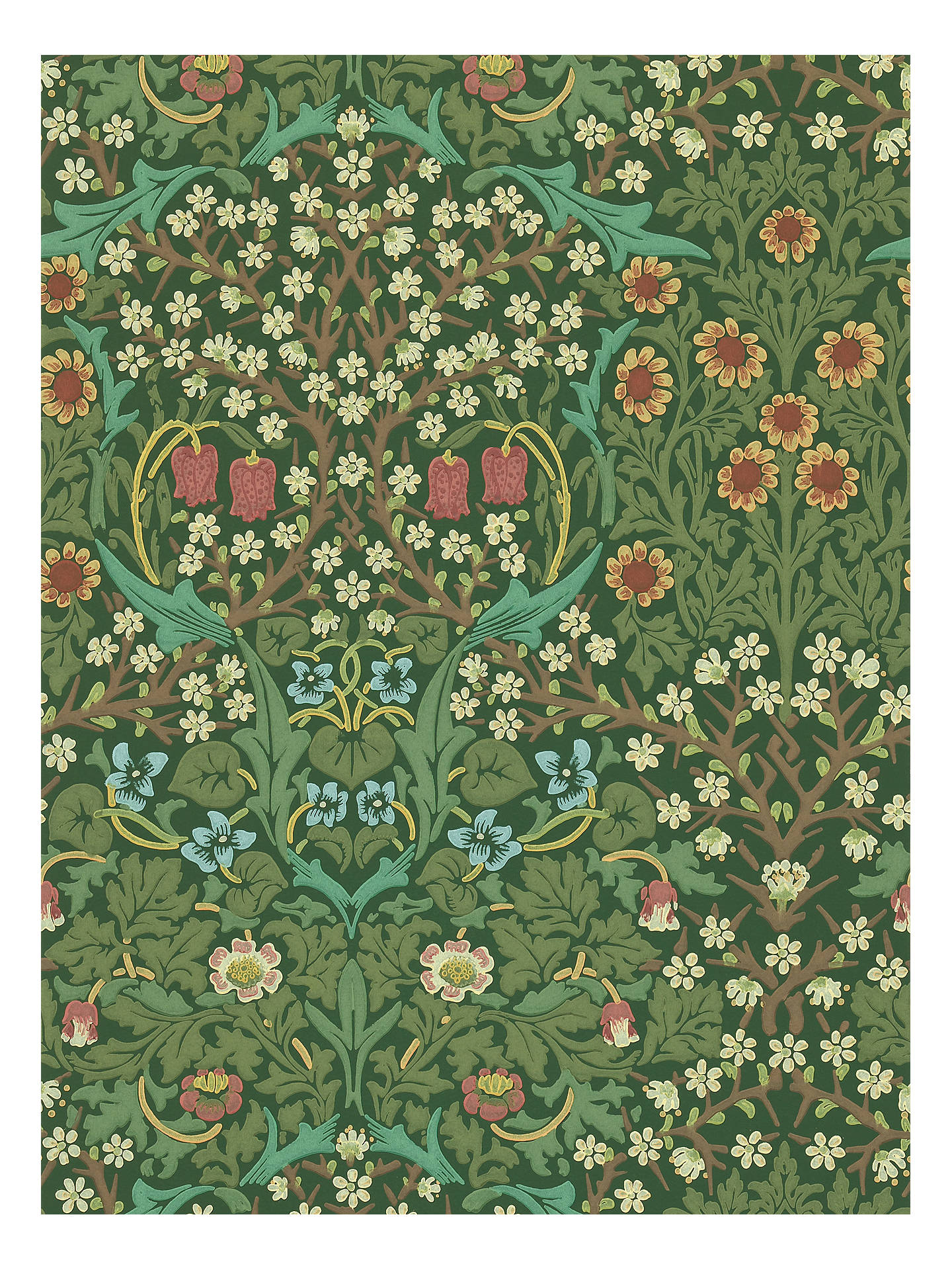 Morris Co Blackthorn Wallpaper Green Dmcw210409