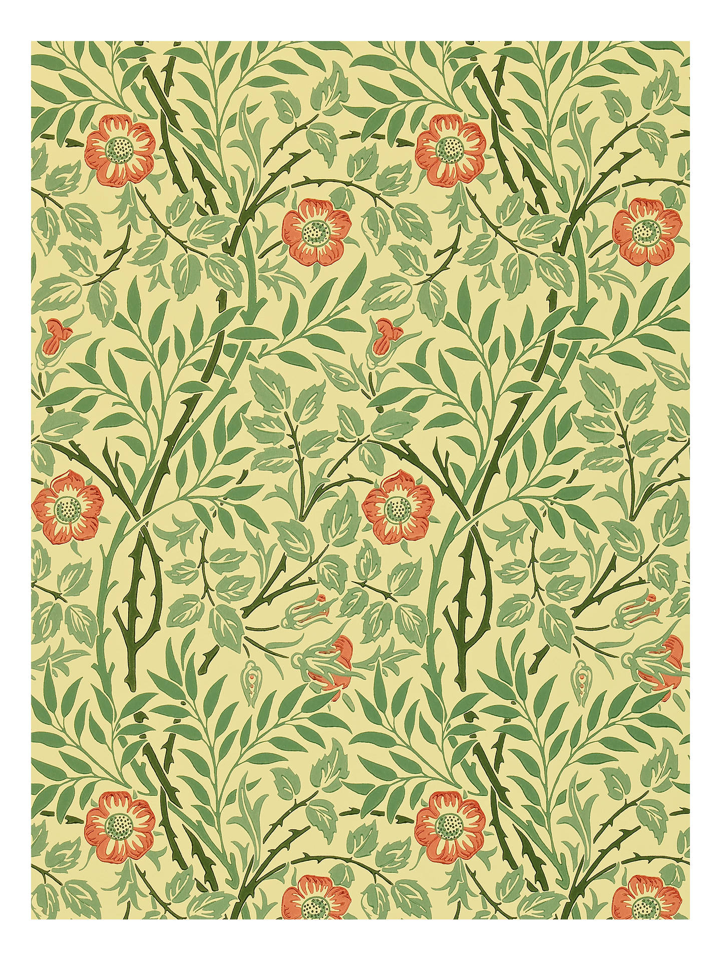 Morris Co Sweet Briar Wallpaper Green