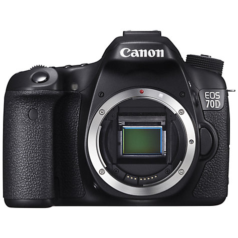 "Buy Canon EOS 70D Digital SLR Camera, HD 1080p, 20.2MP, Wi-Fi, 3"" LCD Screen, Body Only Online at johnlewis.com"