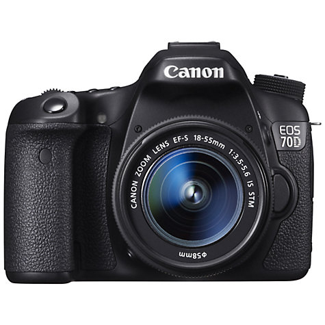 "Buy Canon EOS 70D Digital SLR Camera with 18-55mm IS STM Lens, HD 1080p, 20.2MP, Wi-Fi, 3"" LCD Screen Online at johnlewis.com"