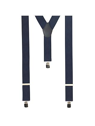 John Lewis & Partners Diamond Braces, One Size, Navy