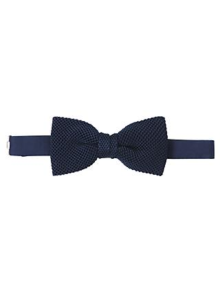 John Lewis & Partners Knitted Silk Bow Tie