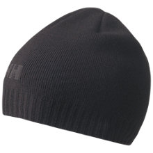 Buy Helly Hansen Ribbed Logo Beanie, One Size, Black Online at johnlewis.com
