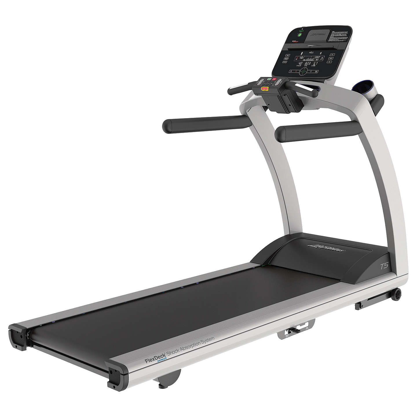 Gym Equipment John Lewis: Life Fitness T5 Treadmill, Track Connect Console, Silver