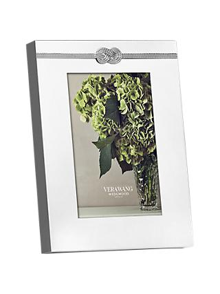 "Vera Wang for Wedgwood Infinity Photo Frame, 4 x 6"" (10 x 15cm), Silver"