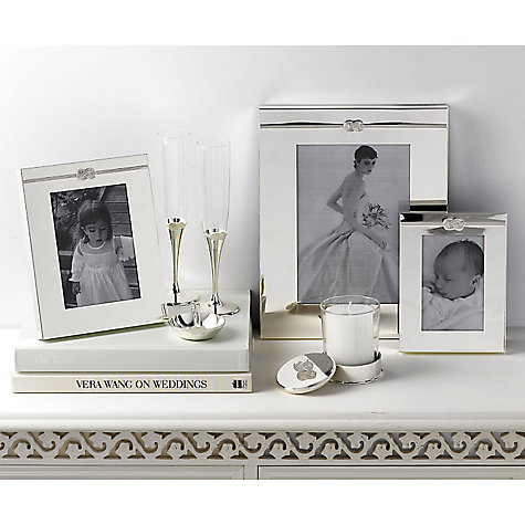 "Buy Vera Wang for Wedgwood Infinity Photo Frame, 4 x 6"" (10 x 15cm), Silver Online at johnlewis.com"