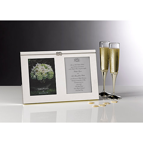 Buy Vera Wang for Wedgwood Infinity Frame, Silver Online at johnlewis.com