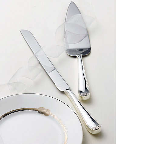 Buy Vera Wang for Wedgwood Infinity Cake Knife and Server Set Online at johnlewis.com