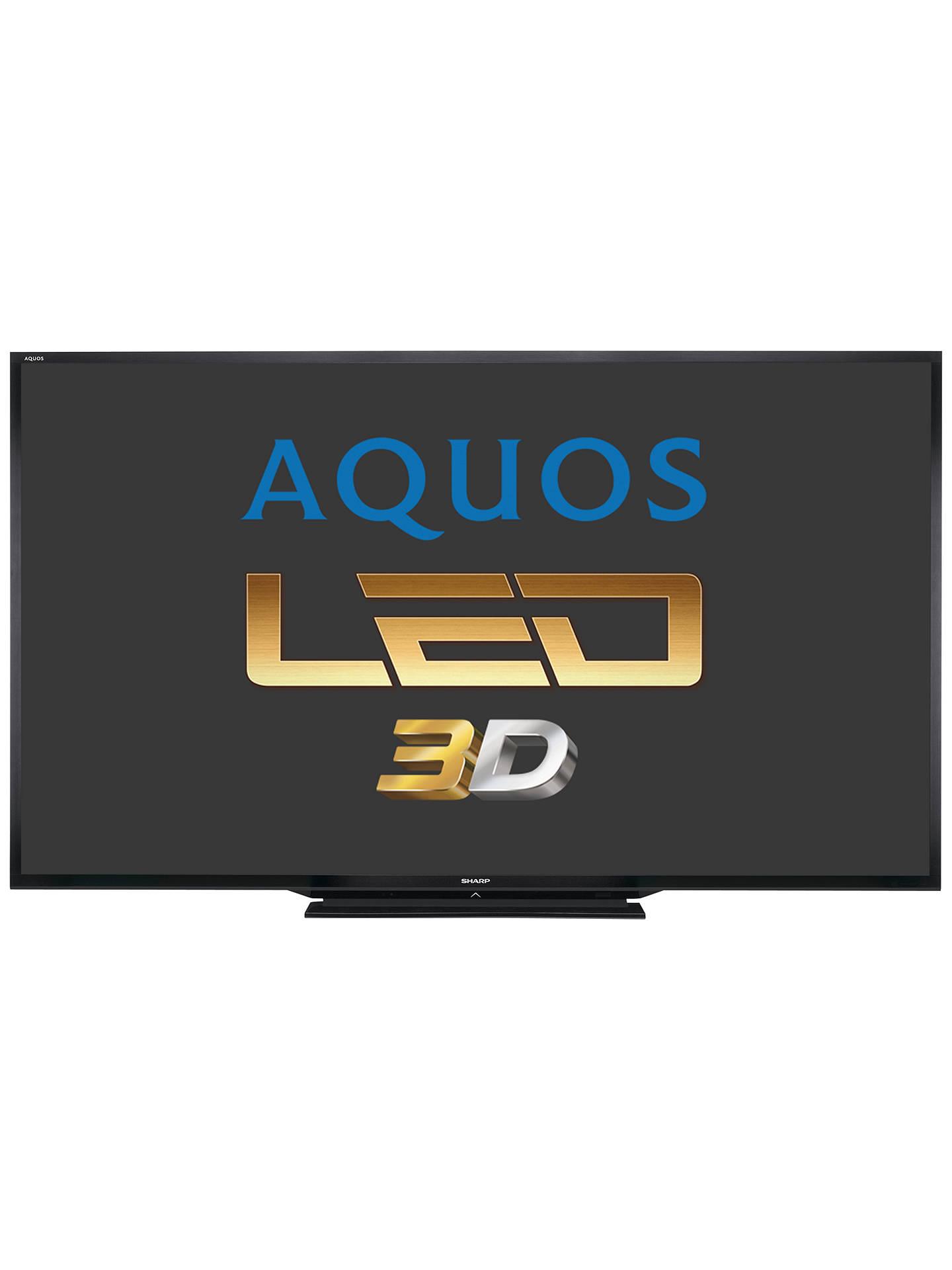 Sharp Aquos LC90LE757K LED HD 1080p 3D Smart TV, 90