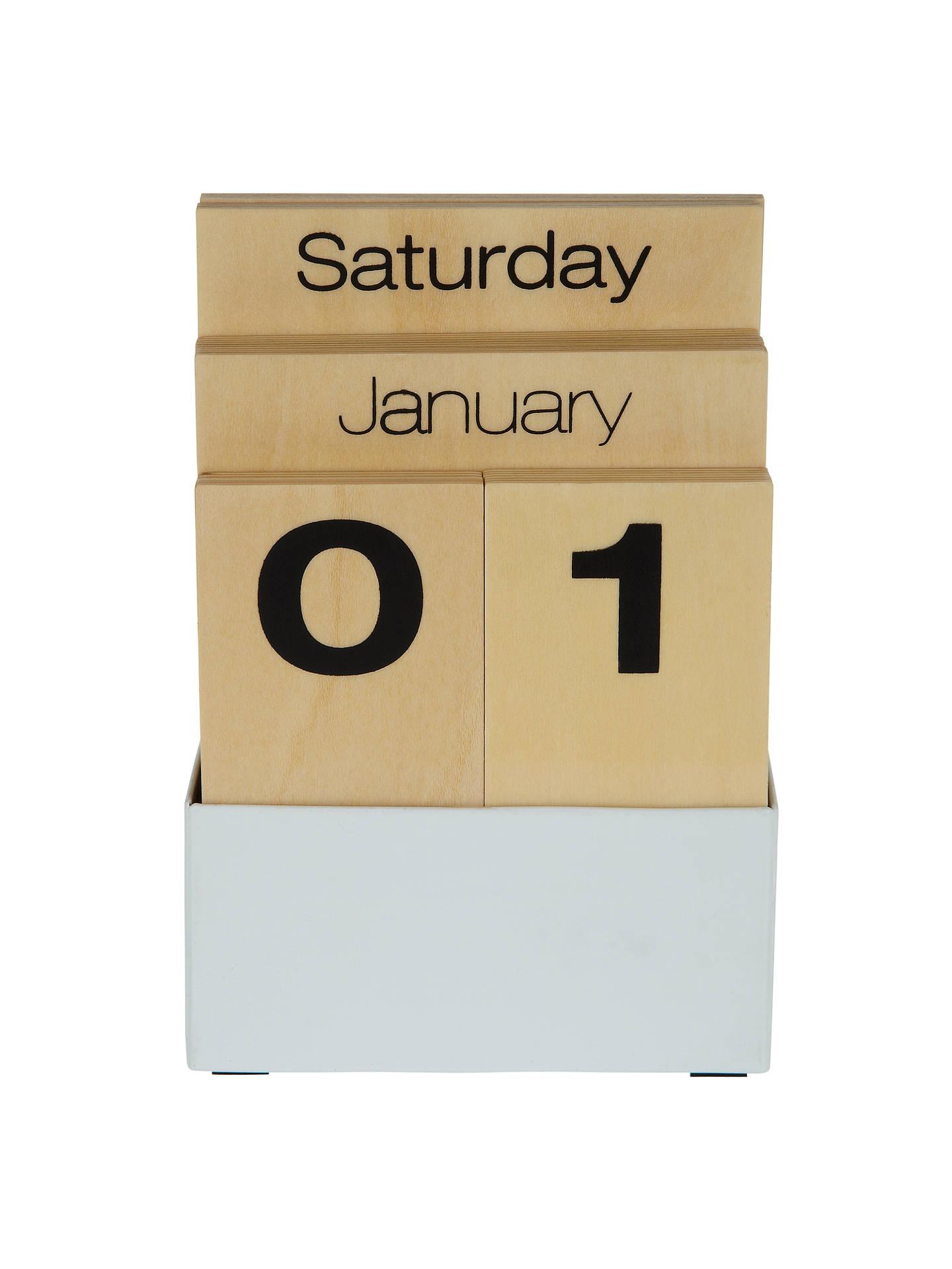 Design Ideas Shuffle Perpetual Calendar At John Lewis Partners