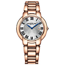 Buy Raymond Weil 5235-P501659 Women's Jasmine Bracelet Strap Watch, Rose Gold/Silver Online at johnlewis.com