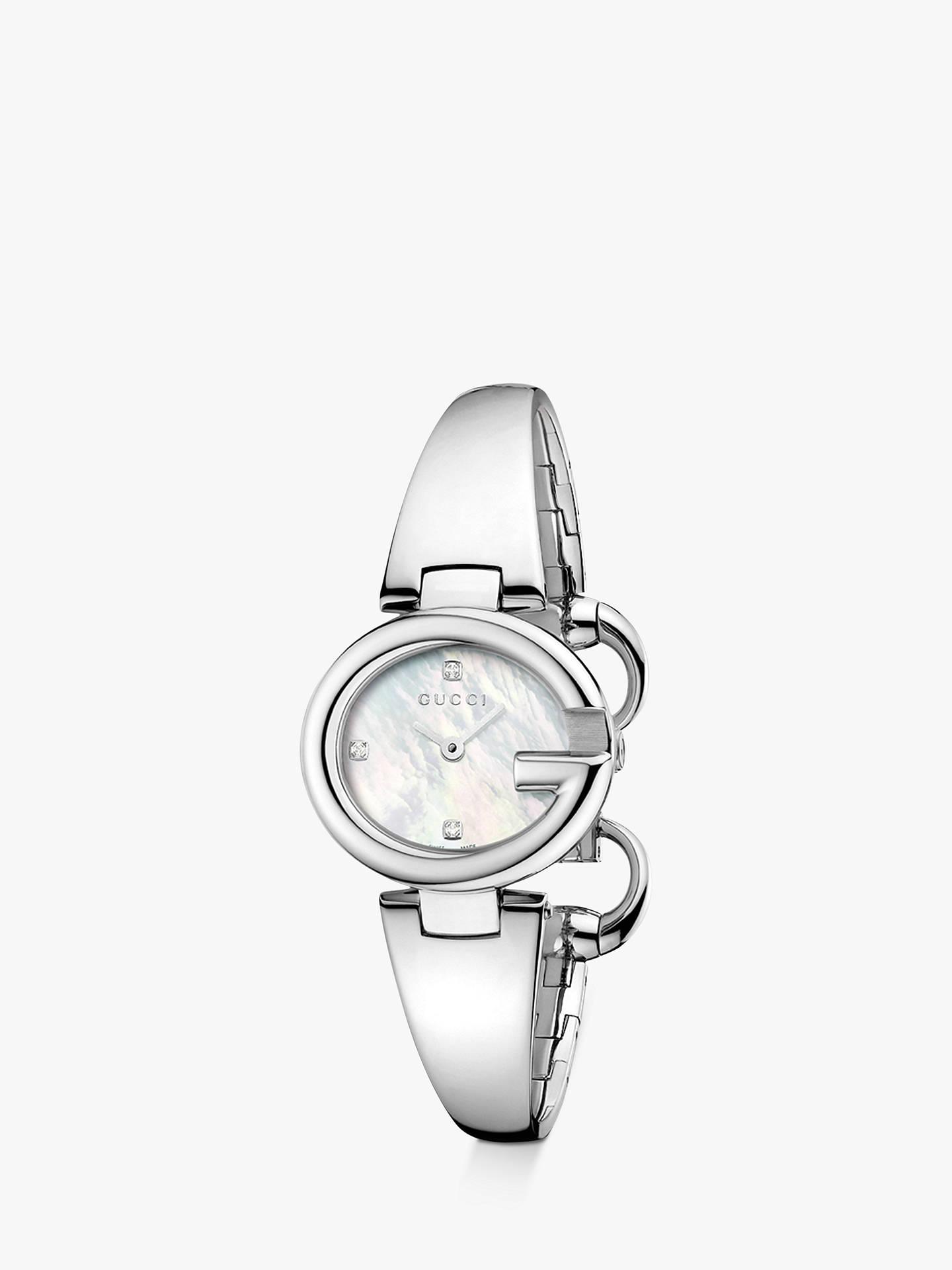 031098f10e2 Buy Gucci YA134504 Women s Guccissima Diamond Bangle Strap Watch