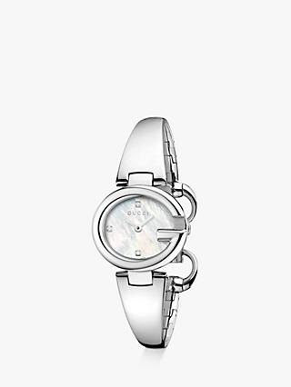 db7342bf1f6 Gucci YA134504 Women s Guccissima Diamond Bangle Strap Watch