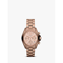 Buy Michael Kors MK5799 Women's Mini Bradshaw Stainless Steel Bracelet Strap Watch, Rose Gold Online at johnlewis.com