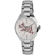 Buy Radley RY4159 Women's Cut Through Spotty Dog Bracelet Strap Watch, Silver/Multi Online at johnlewis.com