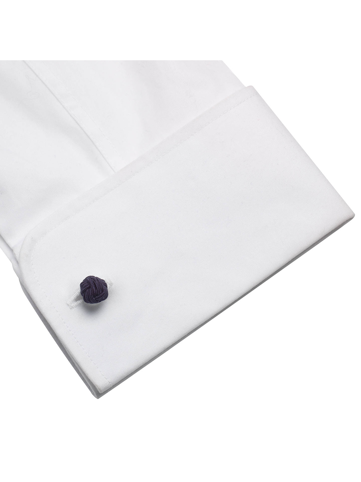 BuyJohn Lewis & Partners Fabric Knot Cufflinks, 3 Pairs, Black/Grey Online at johnlewis.com