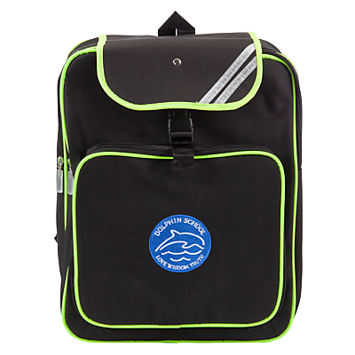 Product photo of Dolphin school unisex high visibility backpack black