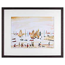 Buy L. S. Lowry - Yachts 1959 Framed Print, 42 x 34cm Online at johnlewis.com