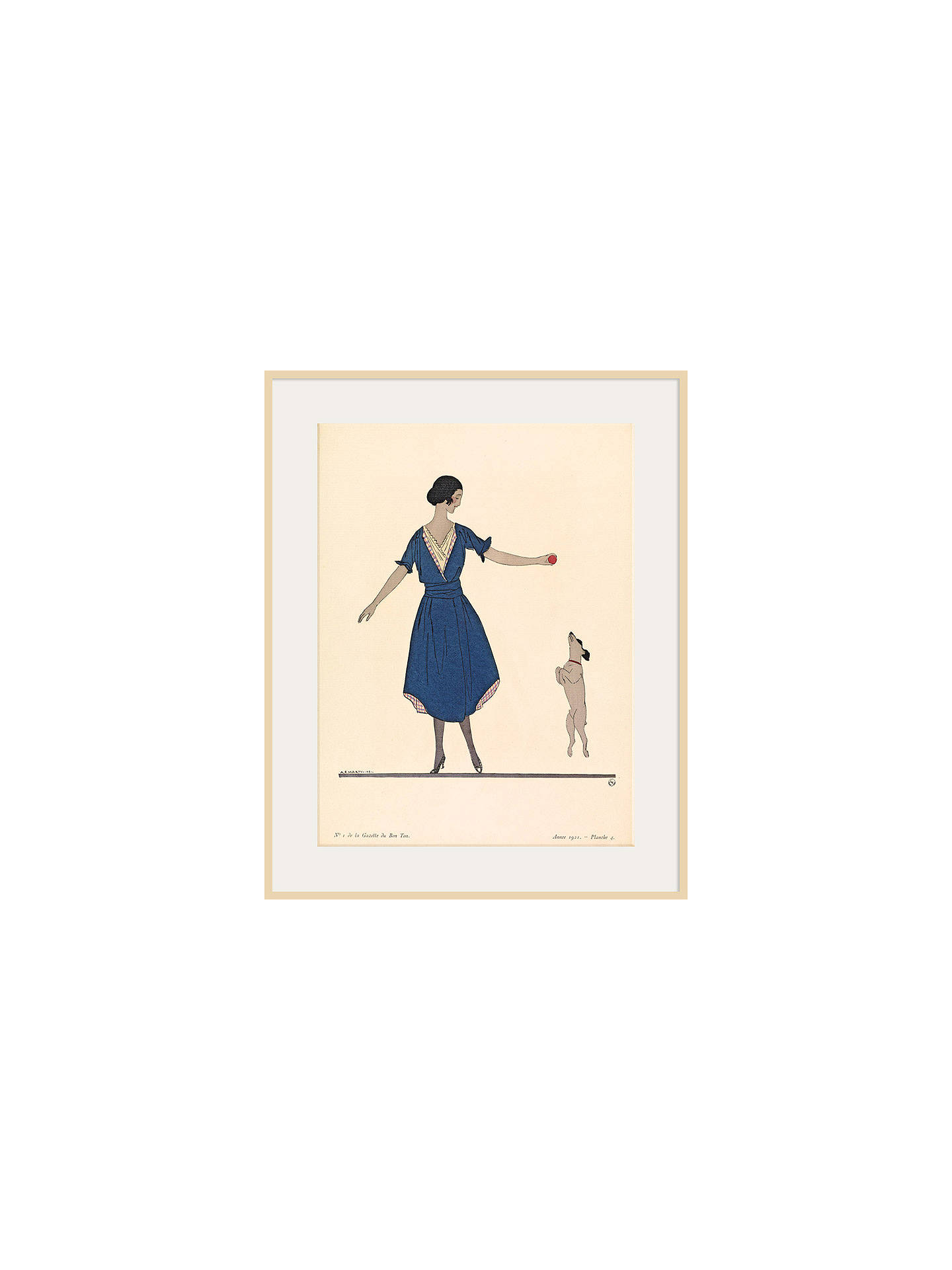 BuyThe Courtauld Gallery, Gazette Du Bon Ton - No 1 1921 Hop La Print, 50 x 40cm, Natural Ash Framed Print Online at johnlewis.com