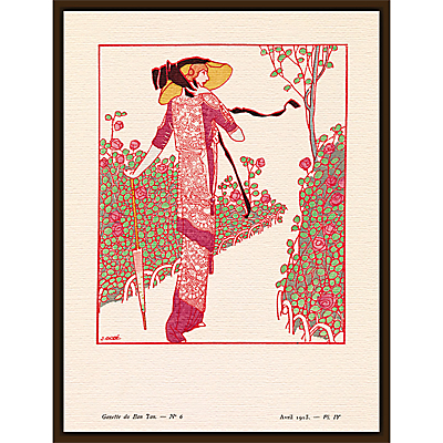 The Courtauld Gallery, Gazette Du Bon Ton – No 6 1913 Une Rose Parmi Les Roses Print, 50 x 40cm