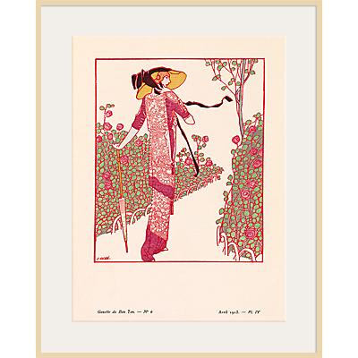 The Courtauld Gallery, Gazette Du Bon Ton – No 6 1913 Une Rose Parmi Les Roses Print, 50 x 40cm