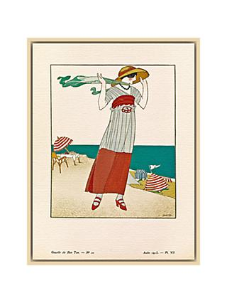The Courtauld Gallery, Gazette Du Bon Ton - No10 1913 Sur La Falaise Print, 50 x 40cm