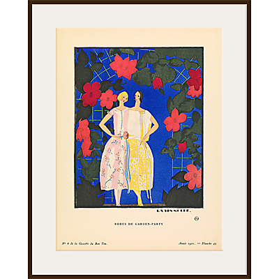 The Courtauld Gallery, Gazette Du Bon Ton - No6 1921 Robes de Garden-Party Print, 50 x 40cm