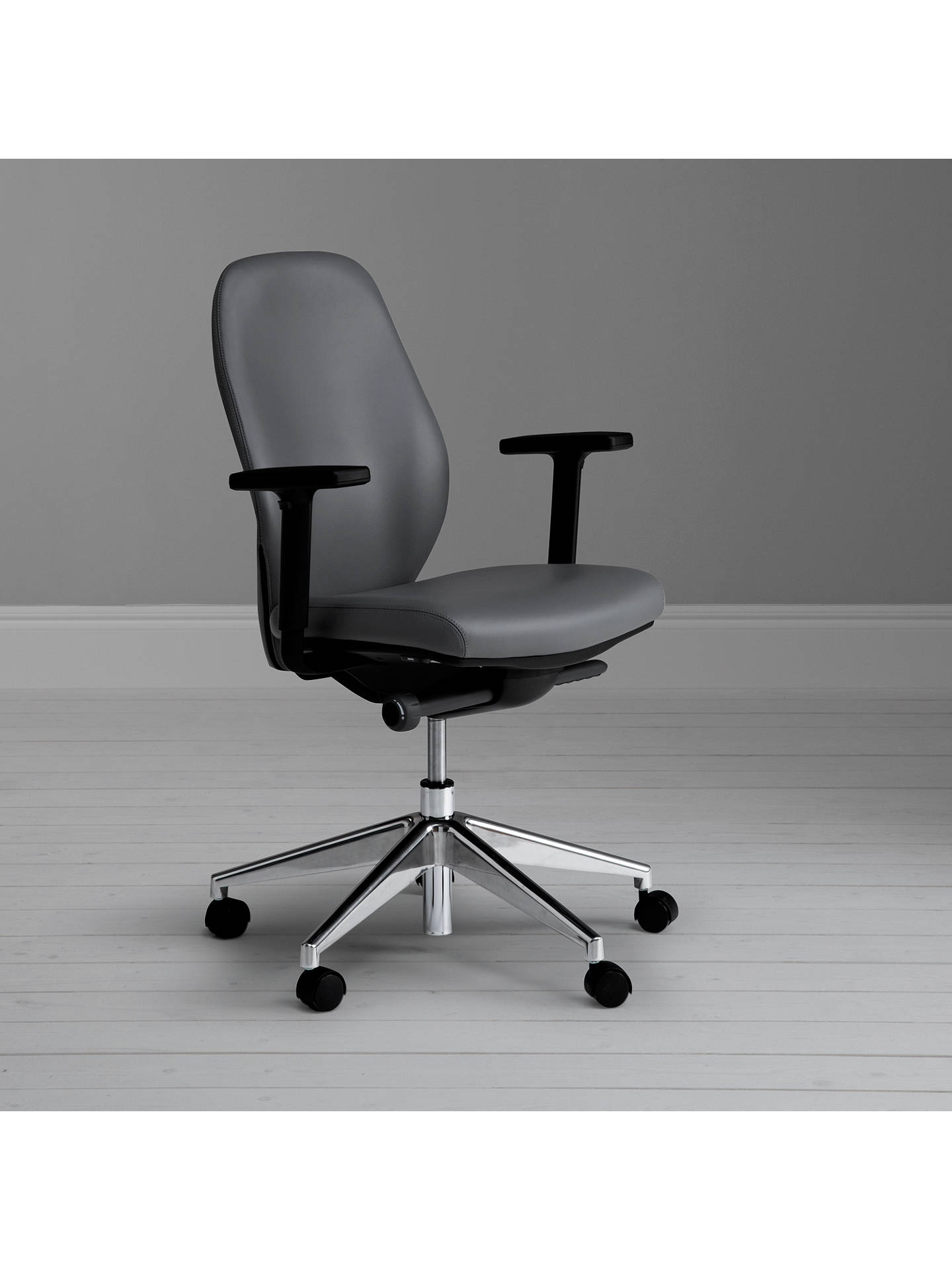 Boss design sona leather office chair at john lewis partners for John lewis home design service reviews