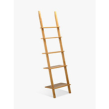 Buy John Lewis Colosseum Narrow Leaning Bookcase, FSC-Certified, Oak Online at johnlewis.com